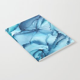 The Blue Abyss - Alcohol Ink Painting Notebook