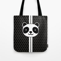 racing Tote Bags featuring Racing Panda by XOOXOO