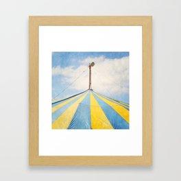 Big Top Circus Tent Surreal Blue and Yellow Photograph Framed Art Print