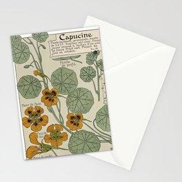 Maurice Pillard Verneuil - Étude de la plante (1903): Garden Nasturtium Stationery Cards