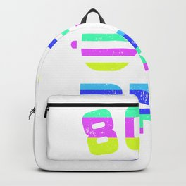 80s Bro T-Shirt 80's Party Backpack