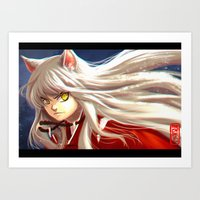 inuyasha Art Prints featuring Inuyasha by Archiri Usagi