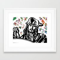 jack sparrow Framed Art Prints featuring Jack Sparrow....Captain Jack Sparrow.. by Kramcox
