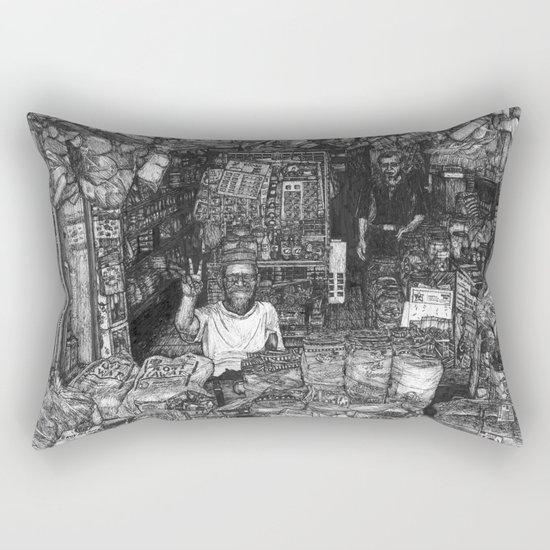 Malaysian Mamak Bread Shop - Kepala Batas, Pulau Pinang / Penang, Malaysia. Rectangular Pillow