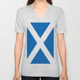 Flag of Scotland Unisex V-Neck