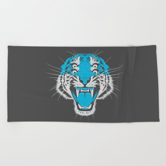 Tiger Head Beach Towel