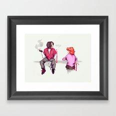 John & Claire Framed Art Print