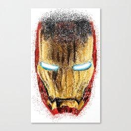 Iron Man Pointillism Canvas Print