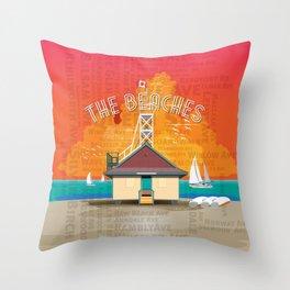 The Beaches Throw Pillow