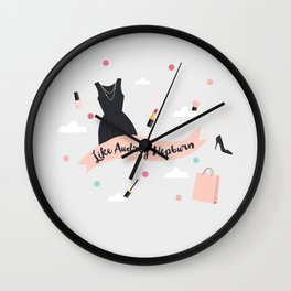 Like Audrey Hepburn Wall Clock