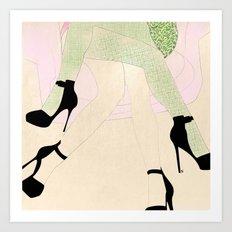 women sketch Art Print