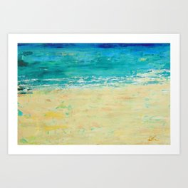 Get to the Beach! Art Print