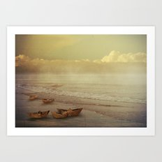 Paper Boats Art Print