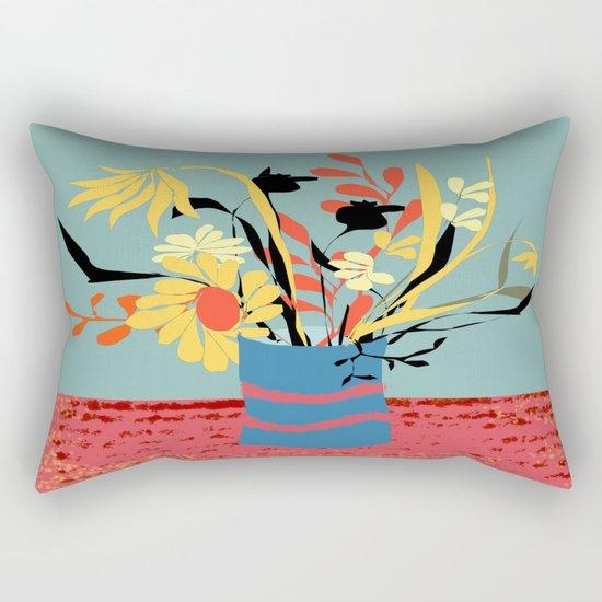 Vase of Flowers Rectangular Pillow