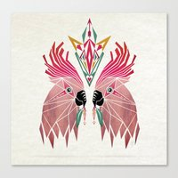 parrot Canvas Prints featuring parrot by Manoou
