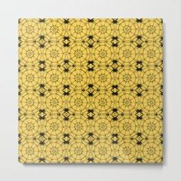 Primrose Yellow Pinwheels Metal Print