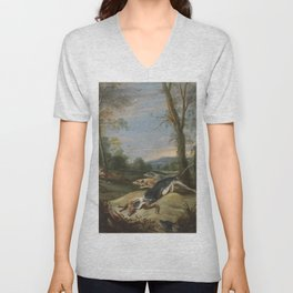 Frans Snyders - Vixens Chased by Dogs Unisex V-Neck