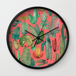 Summer Nature in Pink Wall Clock