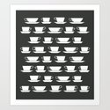 Pattern of Coffee and Tea Cups by johannakindvall