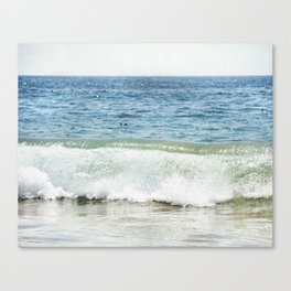 Blue Ocean Seascape, Sea Wave Photography, Pacific Coastal Landscape, Beach Seashore Canvas Print