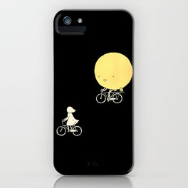 The moon and me iPhone Case
