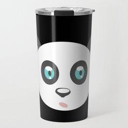 cute panda bear head, teddy, panda Travel Mug