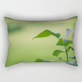 Green Garden Leaves Rectangular Pillow