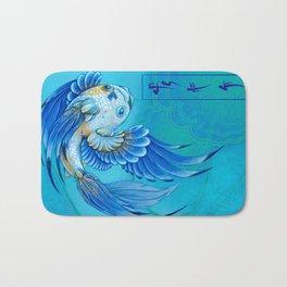 Blue Gold 1 Bath Mat