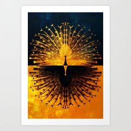 Peacock - Mad Men inspired Art Print