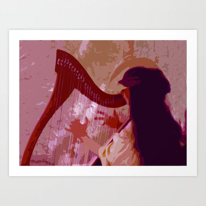 """Lady Harp"" Art Print"