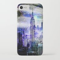 new york skyline iPhone & iPod Cases featuring New York Skyline by haroulita