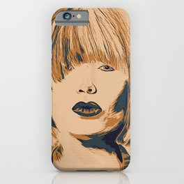 Funky Lady Green #PopArt iPhone Case
