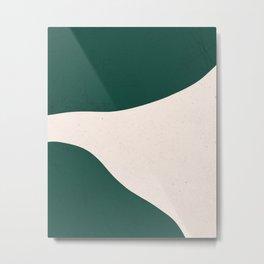 Emerald green abstract art Metal Print