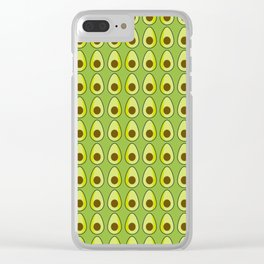 Avocado pattern Clear iPhone Case