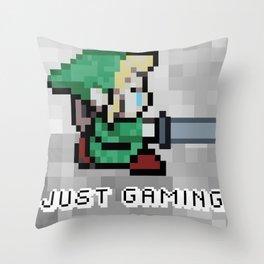 JUST GAMING Throw Pillow