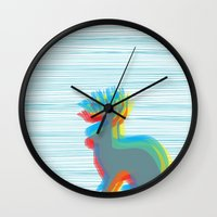 jackalope Wall Clocks featuring Jackalope by Glassy