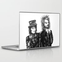 goth Laptop & iPad Skins featuring Goth Detectives by Grace Mutton