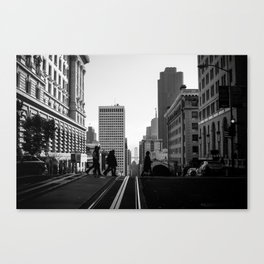 California Street with Bay Bridge Canvas Print