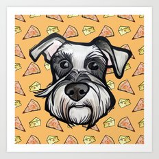 Peter loves pizza and cheese Art Print