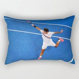 Flying Federer Tennis Backhand Rectangular Pillow