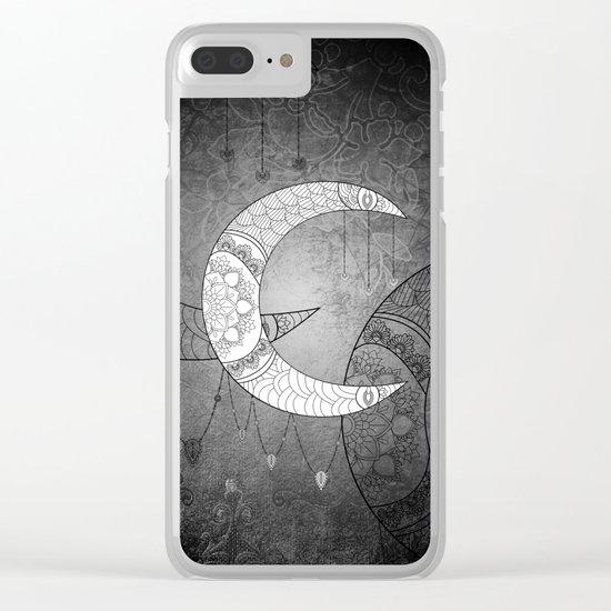 The moon, mandala design Clear iPhone Case