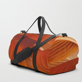 Leaves in Terracotta Color #decor #society6 #buyart Duffle Bag