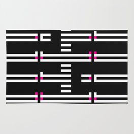 Licorice Bytes, No.5 in Black and Pink Rug