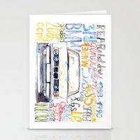 bmw Stationery Cards featuring BMW e36 by dareba