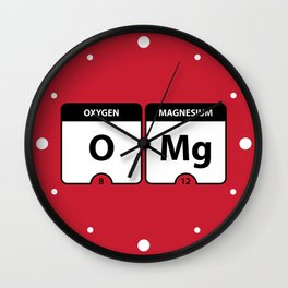OMG Periodic Table Wall Clock
