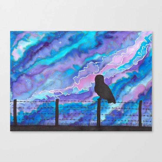 Galaxy Owl Canvas Print