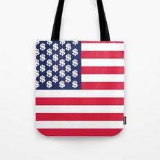 usa dollar flag Tote Bag