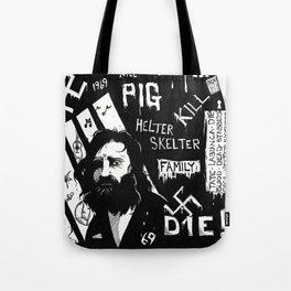 Serial Killer 3: Manson (b&w) Tote Bag