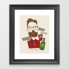 Canadian Hipster Framed Art Print