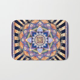 Radiant Light Beams Bath Mat